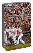 Victory - St Louis Cardinals Win The World Series Title - Friday Oct 28th 2011 Portable Battery Charger
