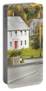 Vienna Maine In Fall Portable Battery Charger by Keith Webber Jr