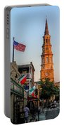 View Down Church Street Portable Battery Charger