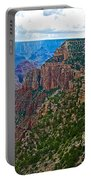 View Five From Walhalla Overlook On North Rim Of Grand Canyon-arizona Portable Battery Charger