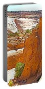 View From Above Capitol Gorge Pioneer Trail In Capitol Reef National Park-utah Portable Battery Charger
