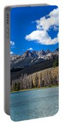 View From Little Redfish Lake Portable Battery Charger
