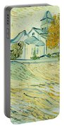 View Of Asylum And Saint-remy Chapel Portable Battery Charger by Vincent van Gogh