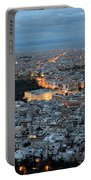 View Of Athens During Dawn Portable Battery Charger
