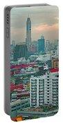View Of Bangkok Near Dusk From Grand China Princess Hotel In Bangkok-thailand Portable Battery Charger