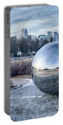 View Of Charlotte Nc Skyline From Midtown Park Portable Battery Charger