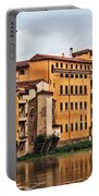 View Of Florence Along The Arno River Portable Battery Charger