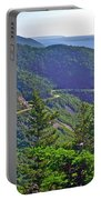 View Of Highlands Road From Skyline Trail In Cape Breton Highlands Np-ns Portable Battery Charger