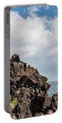 View Of Lava Rock On The Coast, Pico Portable Battery Charger