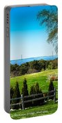 View Of Mackinac Bridge From Mackinac Island Portable Battery Charger