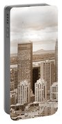 View Of Montreal In Sepia Portable Battery Charger