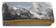 View Of Mt Eiger And Mt Monch, Kleine Portable Battery Charger