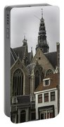 View Of Oude Kerk Amsterdam Portable Battery Charger