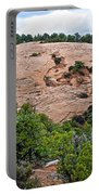 View Of Rock Dome Surface From Sandal Trail Across The Canyon In Navajo National Monument-arizona Portable Battery Charger