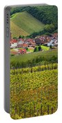 View Of Rodern From The Vineyards Of Alsace Portable Battery Charger
