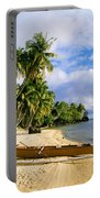 View Of Tahiti Portable Battery Charger
