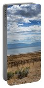 View Of Wasatch Range From Antelope Island Portable Battery Charger