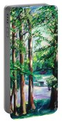 View Of Woodside Lake Portable Battery Charger