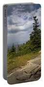 View On Top Of Cadilac Mountain In Acadia National Park Portable Battery Charger