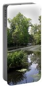 View Over Magnolia Plantation Lake Portable Battery Charger