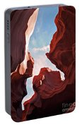 View To The Heavens From Antelope Canyon In Arizona Portable Battery Charger