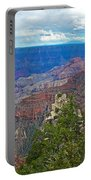 View Two From Walhalla Overlook On North Rim Of Grand Canyon-arizona Portable Battery Charger