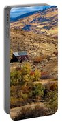 Viewing The Old Barn Portable Battery Charger by Robert Bales