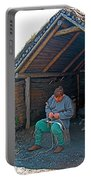 Viking Fisherman At L'anse Aux Meadows-nl  Portable Battery Charger