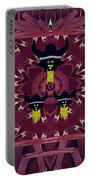 Vikings  And Leather Pop Art Portable Battery Charger