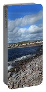 Village By The Sea - County Kerry - Ireland Portable Battery Charger by Aidan Moran