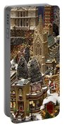 Village Christmas Scene Portable Battery Charger