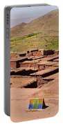 Village In Atlas Mountains In Morocco Portable Battery Charger