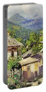 Village Scene In The Mountains Portable Battery Charger