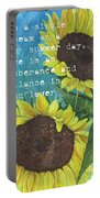 Vince's Sunflowers 1 Portable Battery Charger by Debbie DeWitt