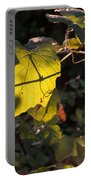 Vine Leaves At Sunset Portable Battery Charger