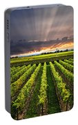Vineyard At Sunset Portable Battery Charger