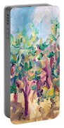 Vineyard In The Afternoon Sun Portable Battery Charger