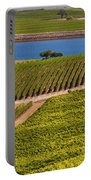 Vineyard On A Lake Portable Battery Charger