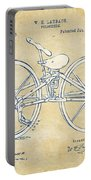 Vintage 1869 Velocipede Bicycle Patent Artwork Portable Battery Charger