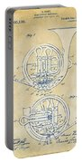 Vintage 1914 French Horn Patent Artwork Portable Battery Charger