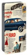 Vintage 1951 Ford Car Advert Portable Battery Charger