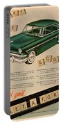 Vintage 1954 Ford Classic Car Advert Portable Battery Charger