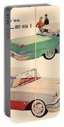 Vintage 1956 Oldsmobile Car Advert Portable Battery Charger