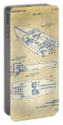 Vintage 1972 Chris Craft Boat Patent Artwork Portable Battery Charger