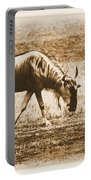 Vintage African Safari Wildbeest Portable Battery Charger