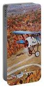 Vintage Airplane Postcard Art Prints Portable Battery Charger