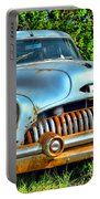Vintage American Car In Yard Portable Battery Charger
