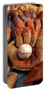 Vintage Baseball Portable Battery Charger by Art Block Collections