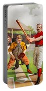 Vintage Baseball Print Portable Battery Charger