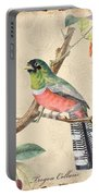 Vintage Bird Study-a Portable Battery Charger